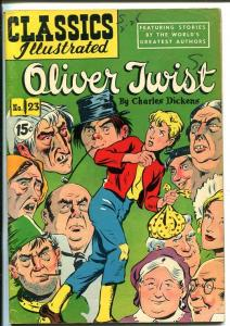 CLASSICS ILLUSTRATED #23-HRN 85-OLIVER TWIST-CHARLES DICKENS-CANADIAN-vg/fn