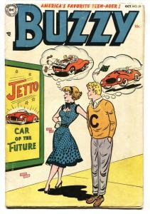 Buzzy #59 1954- DC Teenage humor- Race car cover- VG-
