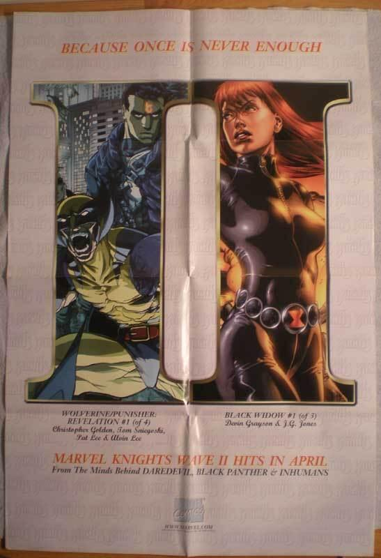MARVEL KNIGHTS Promo poster, 24x36, 1999,  Unused, more Black Widow in store