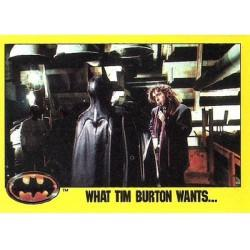 1989 Batman The Movie Series 2 Topps WHAT TIM BURTON WANTS... #238
