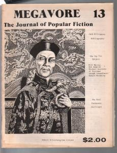Megavore #13 1981-Jornal Of Popular Fiction-Fu Manchu-pulps-VG