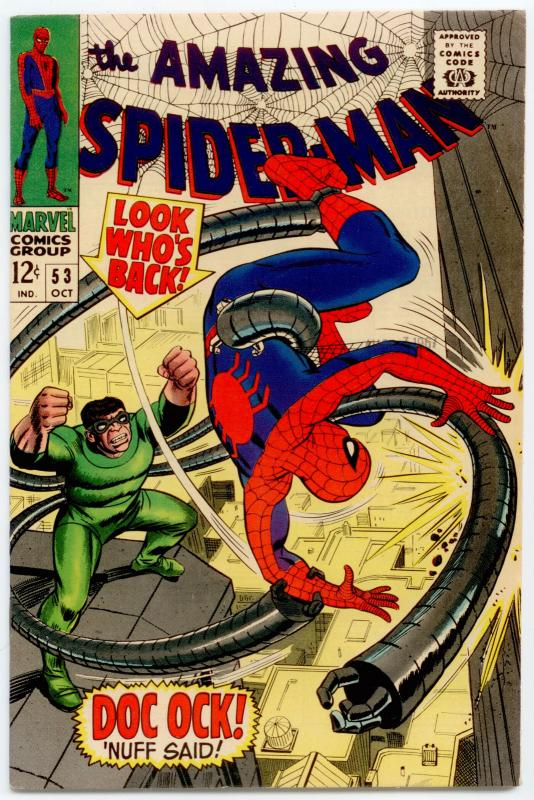 Amazing Spider-Man #53 VF+ 8.5  Doctor Octopus; 1st date with Gwen