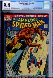 Amazing Spider-Man #110 CGC 9.4  OW/WHITE pages  1st app. the Gibbon; Kraven