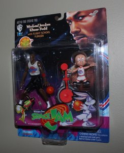 Michael Jordan Space Jam: Michael Jordan & Elmer Fudd Figure MOC  1996