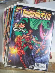 THUNDERBOLTS Lot of 63 books Marvel's Most Wanted Comics 1999-2012 VF-NM B&B