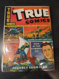 TRUE COMICS #26 GOLDEN AGE CLASSIC VG/F