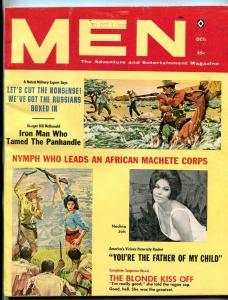 Men Magazine October 1960-African Machete Corps- Nadina Jais FN