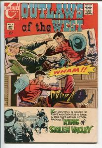 OUTLAWS OF THE WEST #81 1970-CHARLTON-STEVE DITKO-KID MONTANA-fn