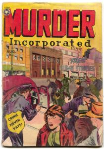 Murder Incorporated #2 1950- Fox Golden Age Crime comic- G
