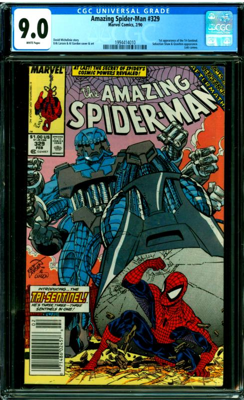 Amazing Spider-Man #329 CGC Graded 9.6