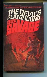 DOC SAVAGE-THE DEVIL'S PLAYGROUND-#25-ROBESON-VG/FN-JAMES BAMA COVER VG/FN