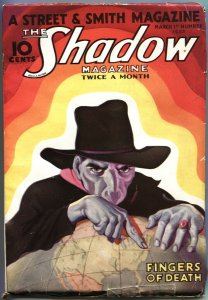 SHADOW PULP-FINGERS OF DEATH-MARCH 1 1933-MAXWELL GRANT-HIGH GRADE-S&S