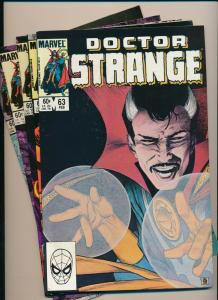 LOT of 5 Comics! Marvel DOCTOR STRANGE #63,64,65,66,69 F/VF (PF805)