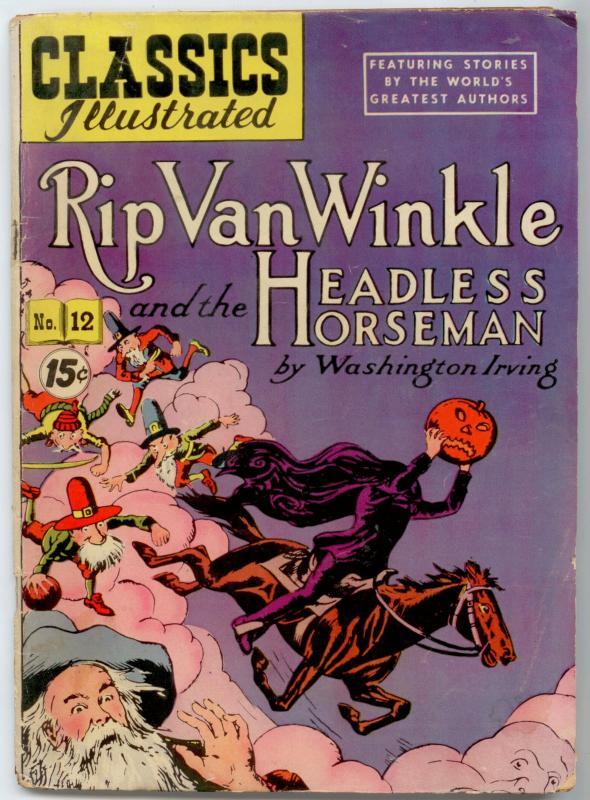 Classics Illustrated  #12 HRN 089 - Rip van Winkle VG+ 4.5