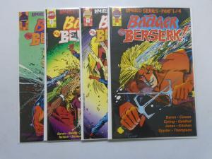 Badger Goes Berserk, Set:#1-4, 8.5/VF+ (1989)