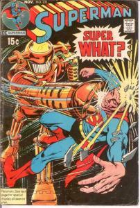 SUPERMAN 231 G-VG  NEAL ADAMS COVER   Nov. 1970 COMICS BOOK
