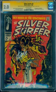 Silver Surfer #3 1st Mephisto! CGC SS Signed by Stan Lee in Silver Ink!