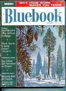 BLUE BOOK PULP-DECEMBER-1955-G/VGLEWICKI COVER-CAMERON-JOHNSTONE-APPELL G/VG