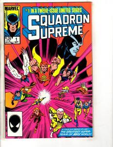 Lot Of 11 Squadron Supreme Marvel Comic Books # 1 2 4 5 6 7 8 9 10 11 12 AD41