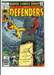 The Defenders #61 - Bronze Age - July, 1978 (VF+)