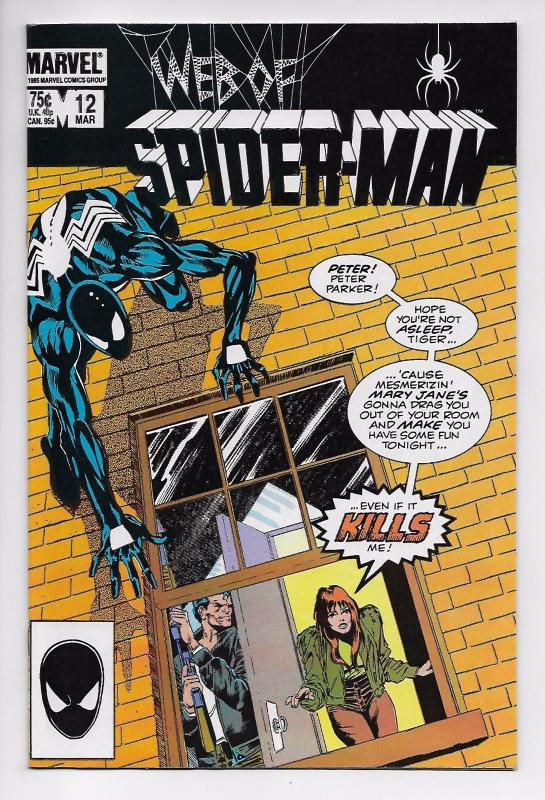 Web of Spider-Man #12 - Black Costume / Sal Buscema (Marvel, 1986) - NM