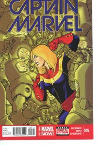 Captain Marvel 5  (2014 series)  9.0 (our highest grade)