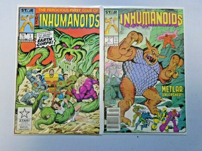 Inhumanoids Star Comics # 1+4 8.0 VF (1987)