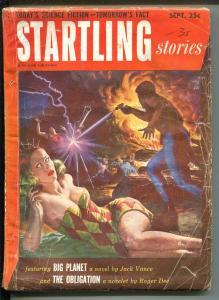 STARTLING STORIES 9/1952-THRILLING PUBS-JACK VANCE-ROGER DEE-SCI-FI PULP-fr