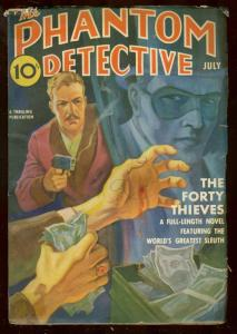 PHANTOM DETECTIVE JULY '39-40 THIEVES BRUTAL PULP COVER VG