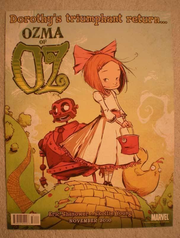 OZMA OF OZ & AVENGERS Promo Poster, 10x13, 2010, Unused, more Promos in store