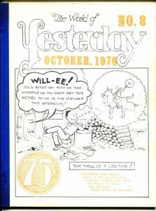World of Yesterday #8 8/1976-Ken Maynard-Fanny Brice-Aesop's Fables Cartoons-VG