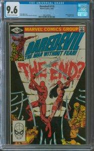 Daredevil #175 CGC Graded 9.6 Elektra appearance