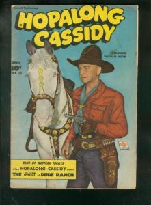 HOPALONG CASSIDY #18 1948-FAWCETT WESTERN-BILL BOYD CVR VG