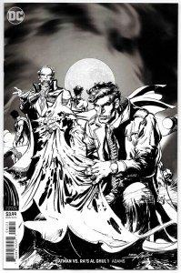 Batman vs Ras Al Ghul #1 Neal Adams B&W Variant (DC, 2019) NM