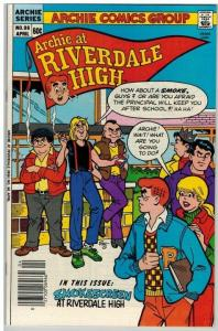 ARCHIE AT RIVERDALE HIGH (1972-1987) 96 VF Aprtl 1984