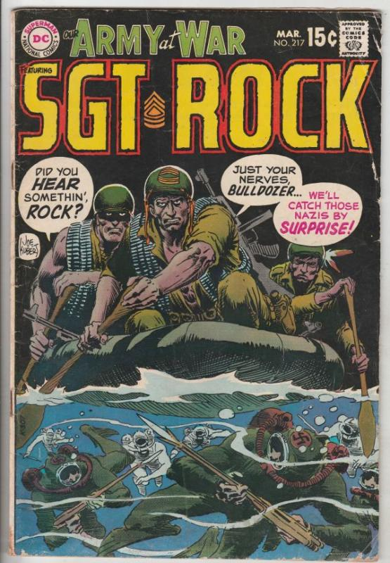 Our Army at War #217 (Mar-70) VG+ Affordable-Grade Easy Company, Sgt. Rock