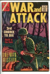 WAR AND ATTACK #1 1964-CHARLTON-1ST ISSUE-WALLY WOOD ART-vg/fn