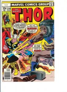 Thor #270 - Bronze Age - Vol. 1, April, 1978 (VF)