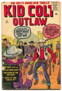 Kid Colt Outlaw #87 1959- Jack Kirby- Gunsmoke Kid VG-