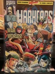 MARVEL COMICS-WARHEADS-#4-DATE:SEPT. 1992-PAGES-36-FULL-COLOR COMIC BOOK