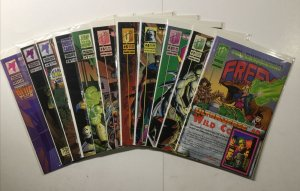 Freex 1-11 1 2 3 4 5 6 7 8 9 10 11 Lot Run Set Near Mint Nm Malibu Comics