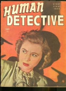 HUMAN DETECTIVE CASES JAN 1945-MAGAZINE-THE GHOST OF HIGHWAY 66 G/VG