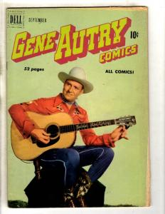 Gene Autry Comics # 43 FN Dell Golden Age Comic Book Western Cowboy Champ JL8