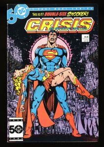 Crisis on Infinite Earths #7 VF+ 8.5 Death of Supergirl!