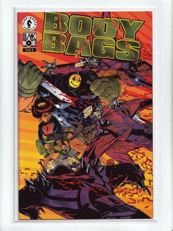 Body Bags 1 - 4 Blanc Noir Complete Set Dark Horse Comics 1996 Series NM