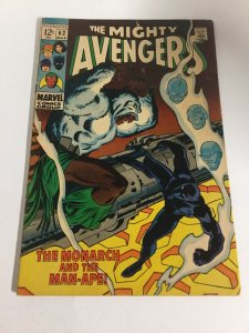 Avengers 62 Vg+ Very Good+ 4.5 1st M'Baku Marvel Comics Silver Age