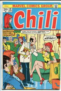 CHILI  #22 1973-MARVEL-MILLIE THE MODEL-FASHIONS-GOOD GIRL ART-vg