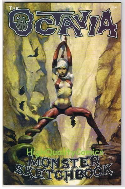 OCTAVIA MONSTER & SKETCHBOOK 1, VF+, Mike Hoffman, 2006, more indies in store