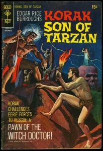 Korak Son Of Tarzan #38 1970- Gold Key Comics- Edgar Rice Burroughs VG