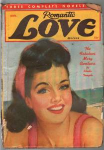Romantic Love Stories 1/1942-pin-up girl portrait cover-spicy pulp-thrills-FR